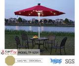 Зонтик пляжа дистанционного управления алюминиевый с светом солнечной силы СИД