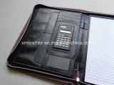 Büro Products Brown PU Conference Folders mit Metal Plate