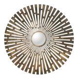 ブラシをかけられた黄銅でめっきされる手によって造られる金属によって組み立てられる壁のとつ面鏡