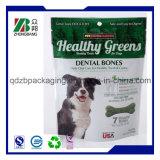 L'alta qualità dell'OEM che si leva in piedi in su 3 strati ha laminato il sacchetto metallizzato dell'alimento per animali domestici