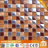 Mosaico de vidro da arte dourada lustrosa de Rosa (G823015)