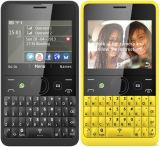 ロック解除されたNekia Asha 210のクワーティーキーボードの携帯電話