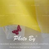Maglia bianca & gialla di stampa di colore