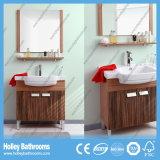 Moderner heißer verkaufenmdf-Fußboden - eingehangenes Badezimmer stellte mit zwei Türen ein (BF136V)