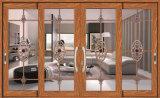 Окно двойной застеклять алюминия обеспеченностью/Timber/PVC сползая