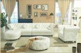 Einfaches European-Style echtes Leder-Ecken-Sofa