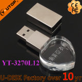Dispositivo a cristallo di scultura su ordinazione /Souvenir (YT-3270L3) del USB di marchio del regalo promozionale