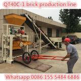 Maquinaria semiautomática Qt40c-1 do tijolo da parede do preço razoável
