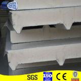 balanceo del panel de emparedado de la PU de la hoja de acero de la azotea que forma la máquina del surtidor de China