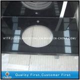 Natural flameado China Hebei Negro Piedra Granito Suelo Baldosas / piso