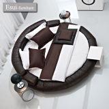 السرير حديثة مستديرة من غرفة نوم أثاث لازم في [جنوين لثر] ([أ-15])