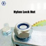 Bleu en nylon de l'écrou de blocage DIN985