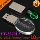Instrument en cristal de découpage fait sur commande /Souvenir (YT-3270L3) du logo USB de cadeau promotionnel