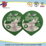 Étiquettes en aluminium pré-coupées pour l'emballage de produits laitiers