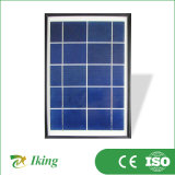 поли панель солнечных батарей 5W с пластичной рамкой или пластичной стальной рамкой
