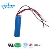 3.7V 3400mAh 18650再充電可能な李イオン電池のパック