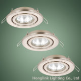 Satin Nickel 230V Adjustable Recessed Ceiling Light Fixture LED Downlight