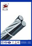 Cable aéreo del paquete con el aislamiento de PVC/XLPE