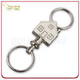 方法ニッケルメッキの偽造品のワニの革Keychain
