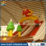 Amusement chaud annonçant la glissière gonflable de ski, jouet éducatif pour des gosses