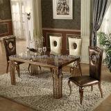 A maioria de tabelas de jantar de mármore quadradas populares do aço inoxidável