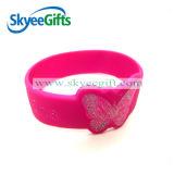 Wristband promozionale del silicone stampato marchio su ordinazione