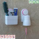 Cremalheira plástica do armazenamento do suporte da parede Center do Toothbrush do banheiro