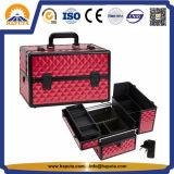 Caixa cosmética da beleza do diamante vermelho do ABS (HB-2048)