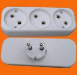 10A 250V Dubbele Ontgraven Contactdoos met Witte Kleur (P8802)