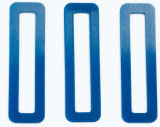 Selbst geschmierter blauer Silikon-Gummiunterlegscheibe-Dichtung-Ring