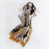 Le donne adattano la sciarpa di seta viscosa stampata (YKY1127)