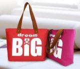 (KL053) Sacchetto di acquisto su ordine della tela di canapa per il sacchetto di Tote di modo delle signore