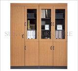 Gabinete modular do arquivo de madeira da mobília da biblioteca (SZ-FCT607)