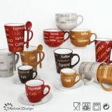 Silk Screen를 가진 16oz Big Ceramic Stoneware Soup Mug