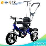 Triciclo plástico barato do bebê das crianças do modelo novo para o triciclo dos miúdos dos miúdos/das crianças do bebê tipo do carro e da potência do passeio ou do impulso