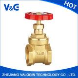 Válvula de puerta de cobre amarillo de Valogin Pn20