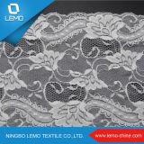 Breites White Elastic französisches Tricot Lace für Dress