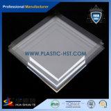 Folha acrílica transparente de PMMA com a linha no material de construção