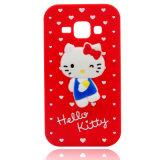 Caisse bleue rose rouge noire de téléphone de Kitty de silicones bonjour pour l'iPhone 6/Moto Xt (XSK-002)