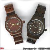 최상 단풍나무 또는 빨간 흑단 나무로 되는 시계 석영 시계 Hl12