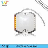 Amarillo Intermitente túnel de carretera de luz LED con conexión de cable de plástico carretera Rtud