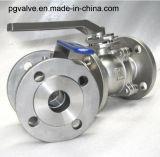 válvula de esfera da flutuação do aço inoxidável do API da flange 2PC
