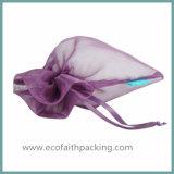 オーガンザのドローストリングのギフト袋のオーガンザの宝石類の袋袋の結婚式の好意