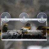 Alimentatore acrilico dell'uccello della finestra di alta qualità la cosa migliore per i piccoli e grandi uccelli selvaggi