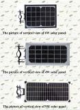 9W tout dans une lumière solaire de jardin du réverbère DEL