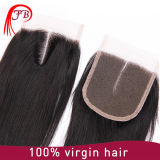최상 Hand Tied 브라질 Hair 4X4 Lace Closure