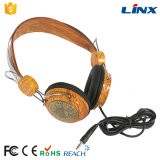 Gute Qualitäts-Soem-hölzerner Stereokopfhörer mit Mic