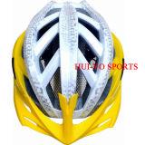 Casque de vélo de tailles importantes, casque de vélo jaune, casque de route de clignotement