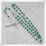 rosario verde dei branelli di vetro di 6mm, nuovo rosario di Desing (IO-cr308)