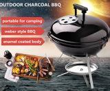 Im FreienWeber Portable-kampierendes Miniholzkohle-Kessel BBQ-Gitter